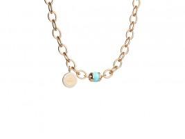 Hollywood Stone Halskette Bronze-vergoldet mit blauem Stein NEU