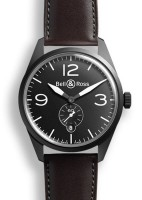 Bell & Ross BR 123 Original Carbon mit Lederband