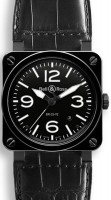 Bell&Ross BR03-92 Ceramic mit Lederband