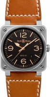 Bell&Ross BR03-92 Golden Heritage mit Lederband