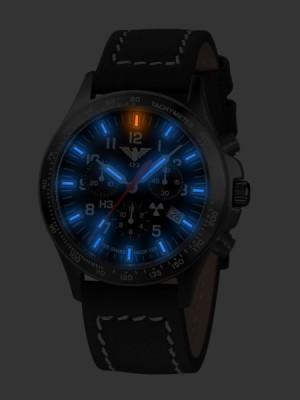 KHS Tactical Watches Black Platton Chrono Mod: KHS.BPC.LBB inkl. Ersatzband NEU