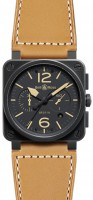 Bell&Ross BR03-94 Heritage Chronograph mit Lederband